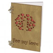 купить деревянную открытку For my love