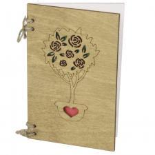 купить Деревянная Открытка Дерево роз