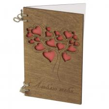 Деревянная открытка люблю тебя фото