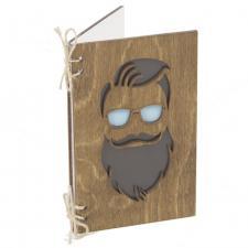 Открытка С бородой (орех)