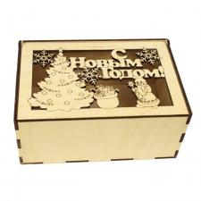 Деревянный короб С Новым Годом новинка