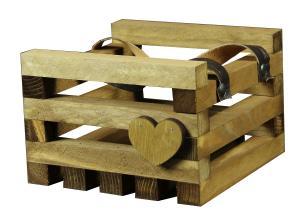 Ящик реечный с кожаными ручками 16*16*11 (Ц)