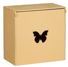 Короб под макаруны с бабочкой  18*18*11 (персиковый)