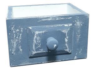 Кашпо с ручкой-кнопкой 16,5*12,5*10 (белый/серый) ЦД