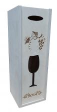 Ящик для вина гравировка 12*12*35 (ЦФ)