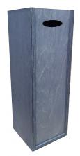 Ящик для вина гл.крышка 12*12*35 (эб.дерево) ЦФ