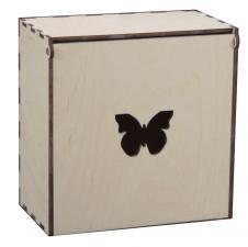 Короб под макаруны с бабочкой 18*18*11