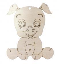 Фигурка Свинка сидячая 10*8